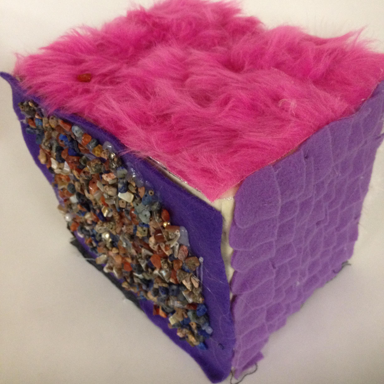 Textural recycled sculpture. Grade 7
