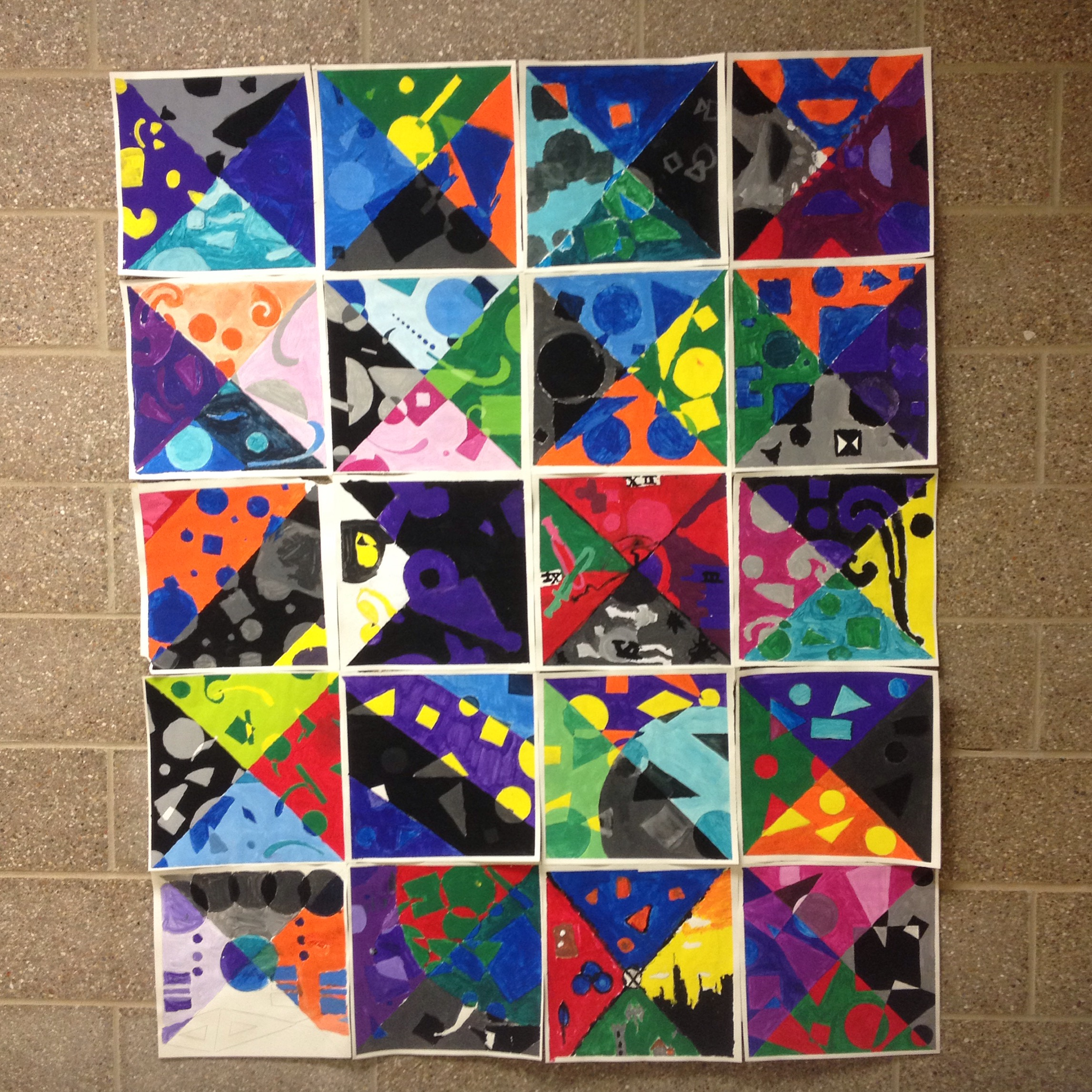 Collaborative Color theory painting