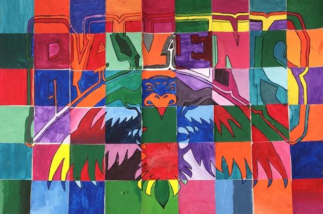 Collaborative Mascot Logo Color Theory painting