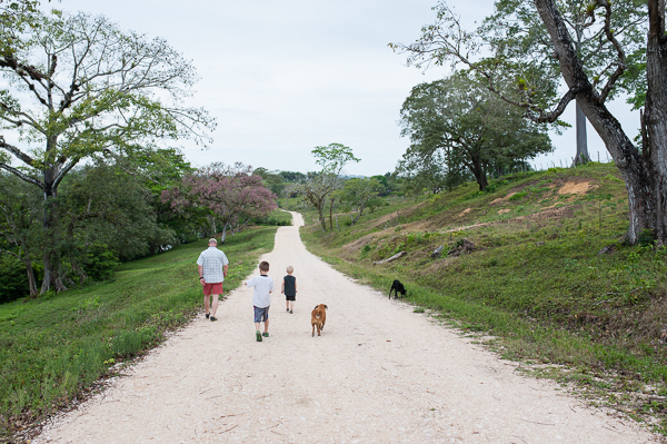 One more family walk around the resort with Biscuit and Sacky.