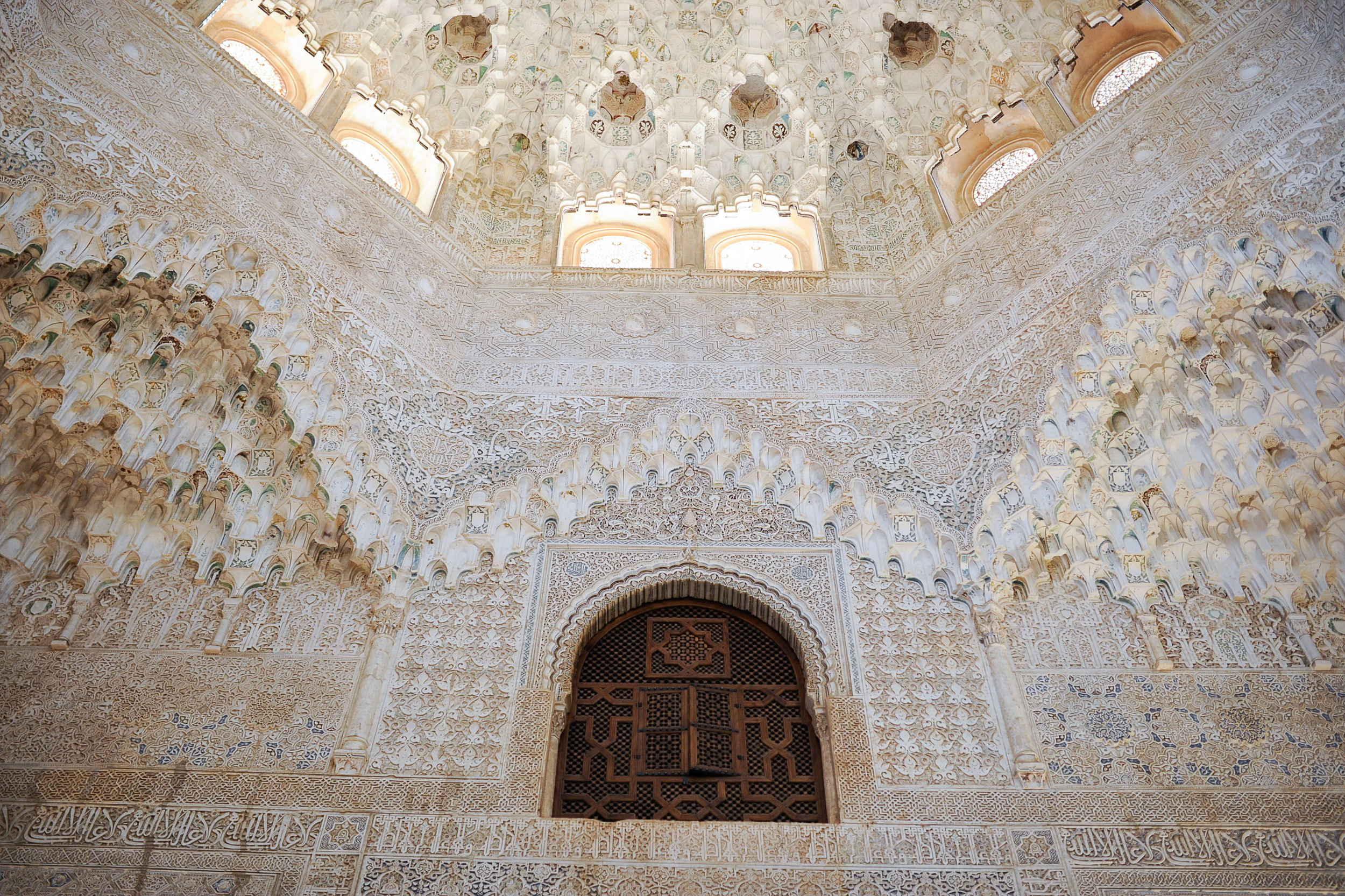 The Alhambra was mostly used as a summer residence - so all the airy columns and windows let in lots of breeze and light. Honeycomb muqarnas are a unique feature.