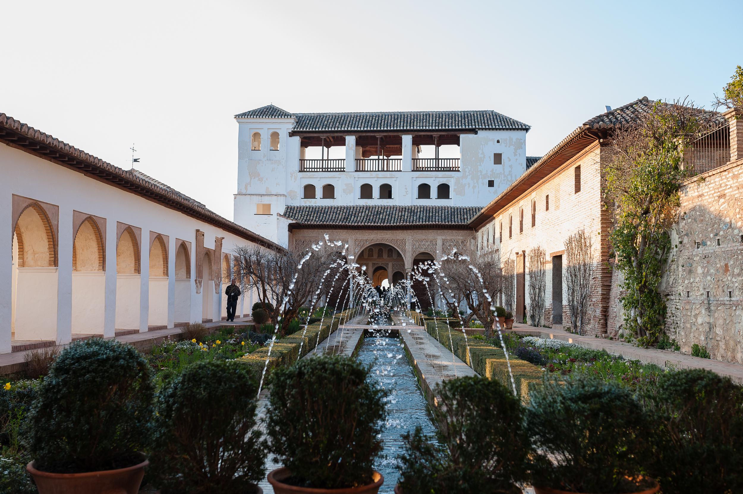 Generalife gardens beside the Alhambra
