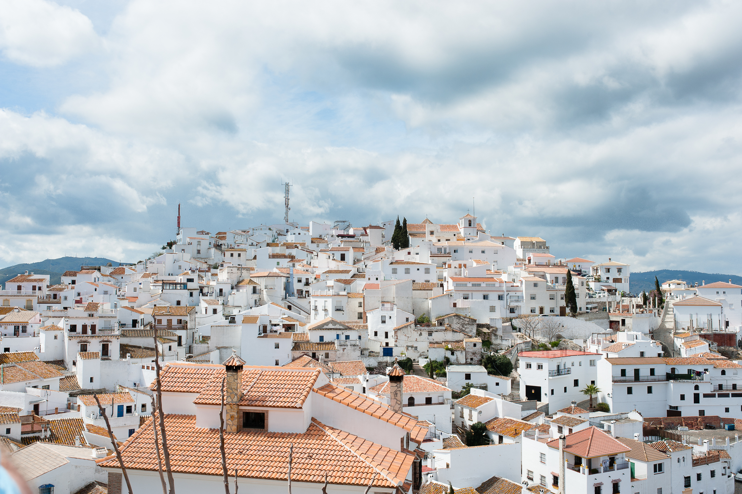 Comares hill town from the top.