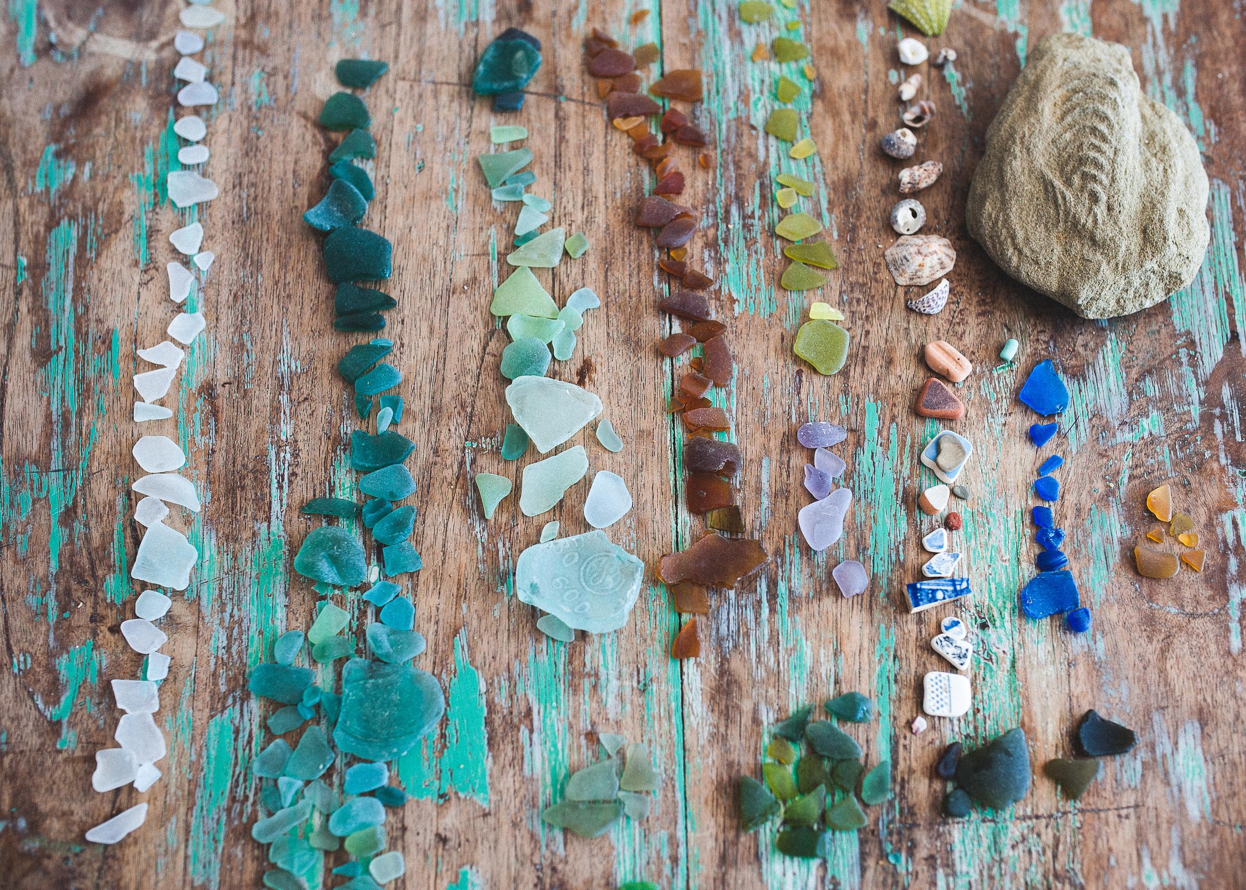 beach combing spoils