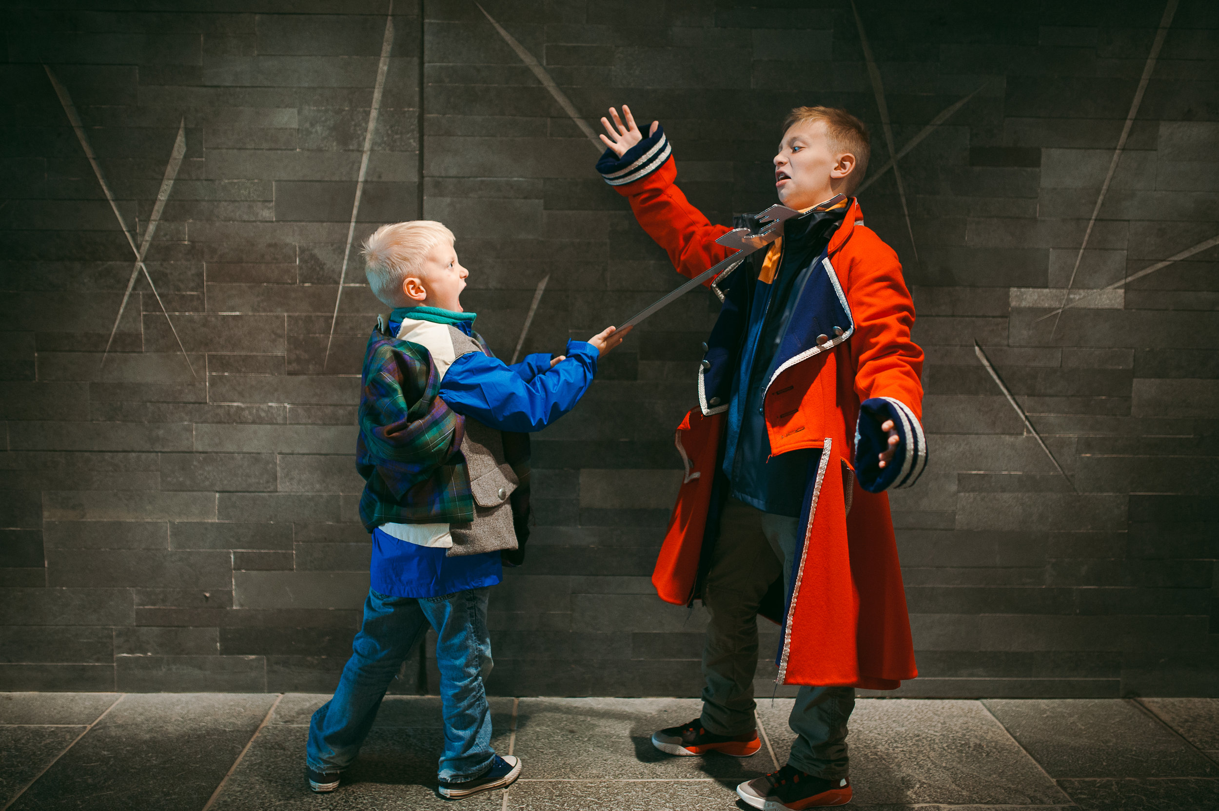 the boys reenact the 1745 battle of Culloden between the Highlanders and British