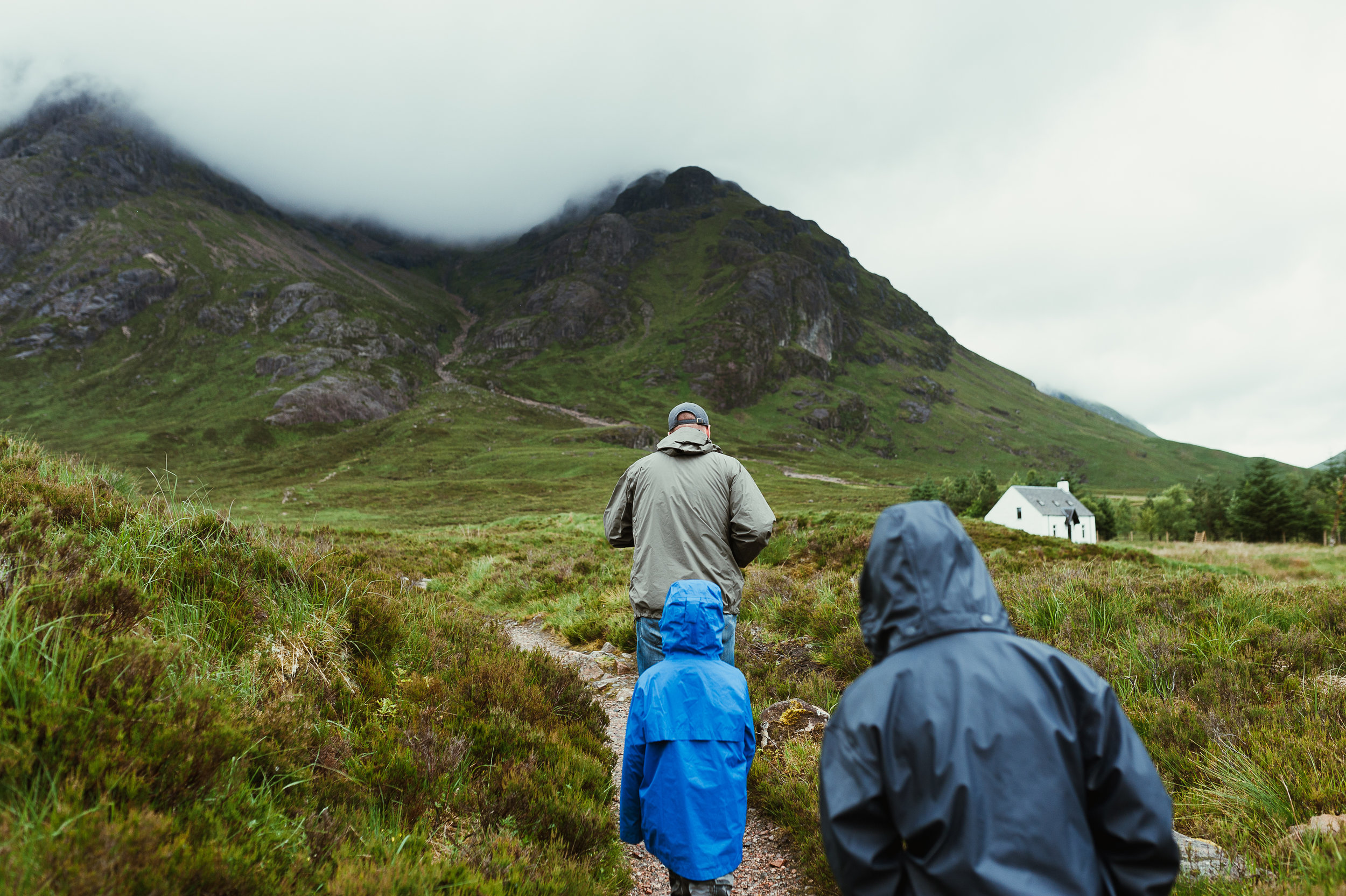 we went almost to the top, where the fog meets munro