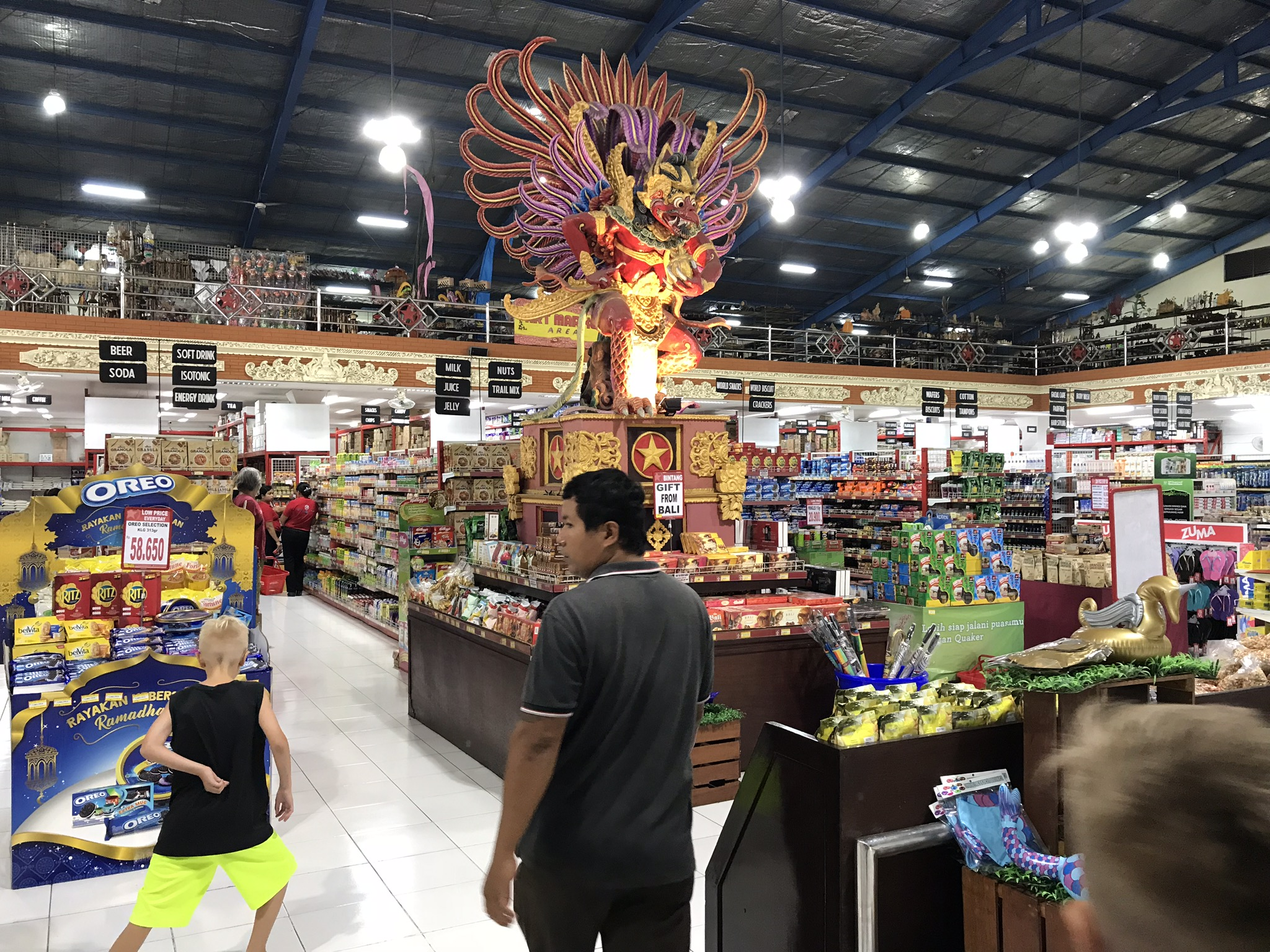 Balinese grocery store - brands are brands everywhere