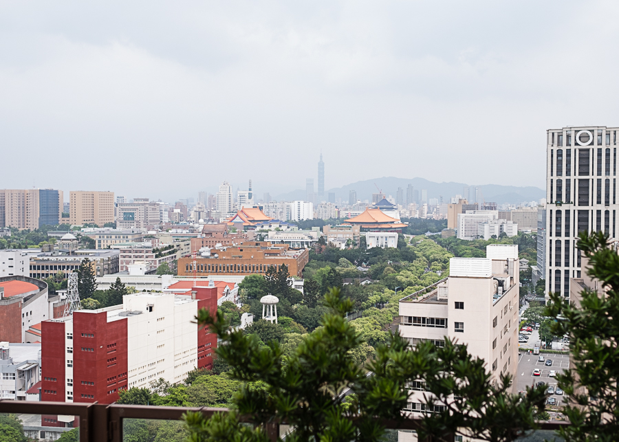 View from our hotel rooftop of Taipei 101