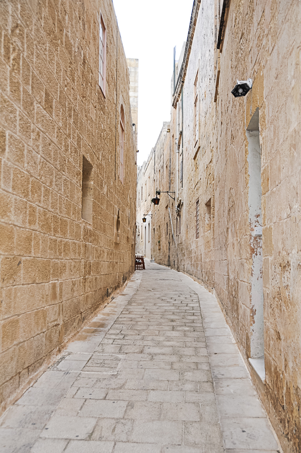 ancient streets of Mdina, founded in 8th century AD