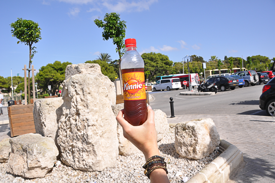 Kinnie - national soda of Malta - tastes a bit like butterscotch if I remember correctly
