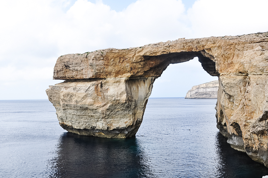 Malta's famous Azure Window, which collapsed into the sea during a storm in 2017.