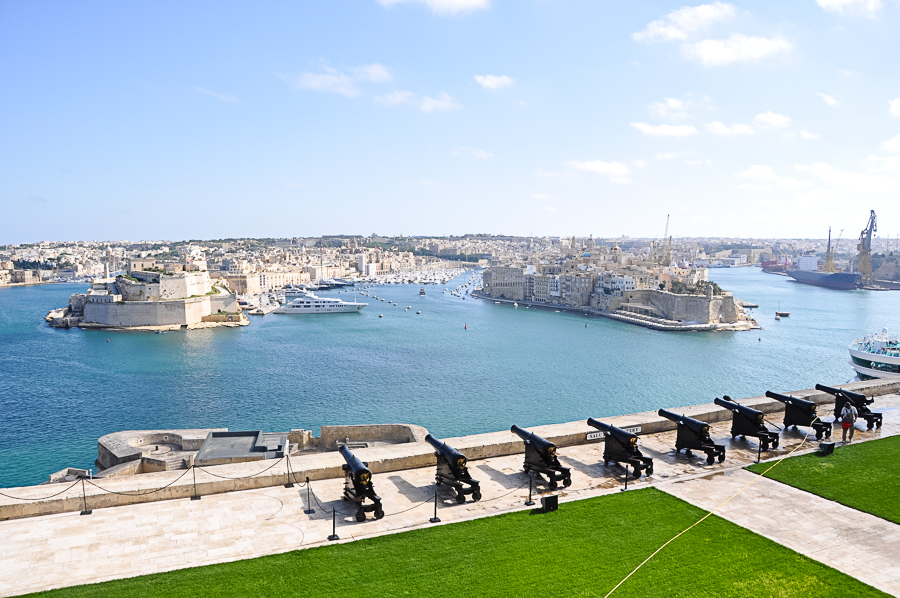 view from Fort St. Elmo in Valletta