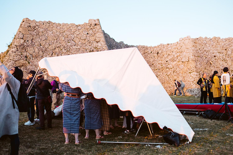 Zo-udui (folk) dancers preparing