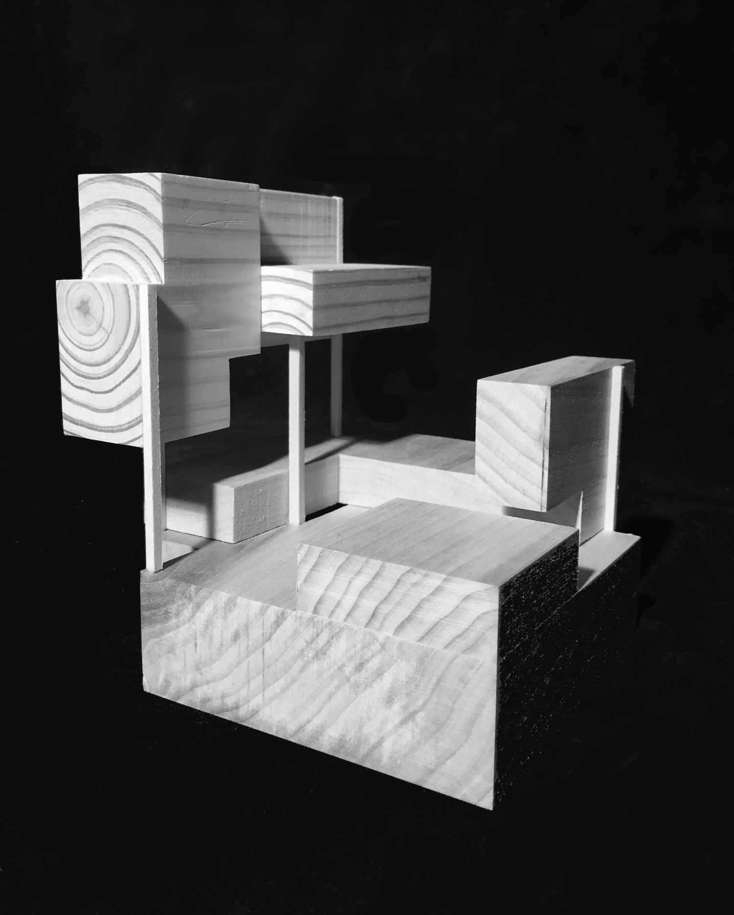 Relating tectonic pieces to stereotomic mass.  Wood. 02/02