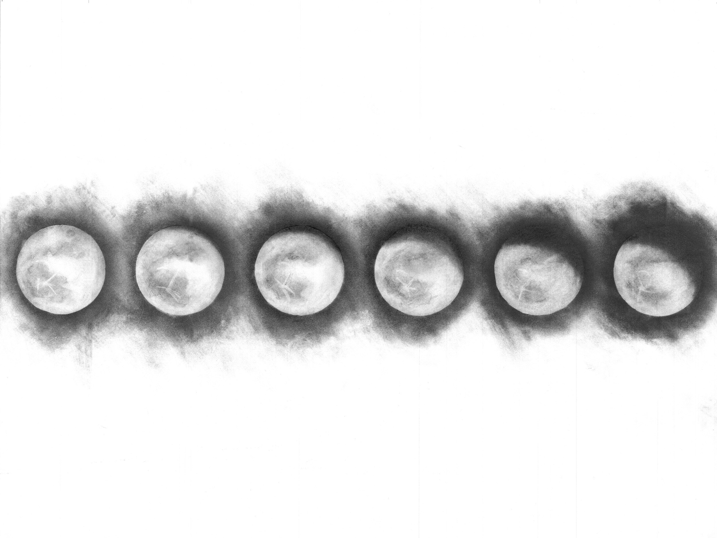 Moon Phases from March 5th through 10th of 2015.
