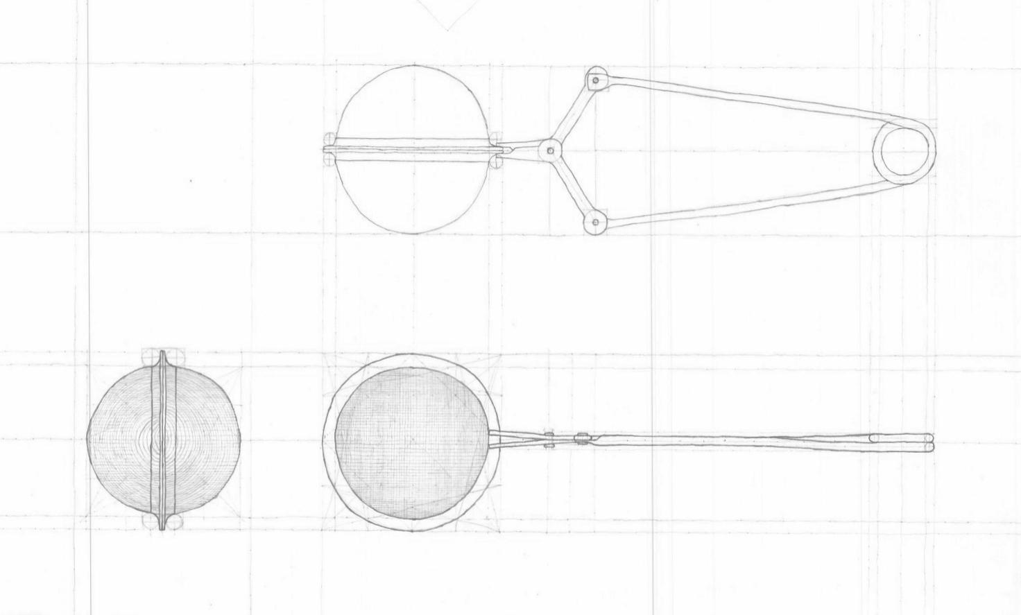 Tool analysis. Freehand graphite on Stonehenge.