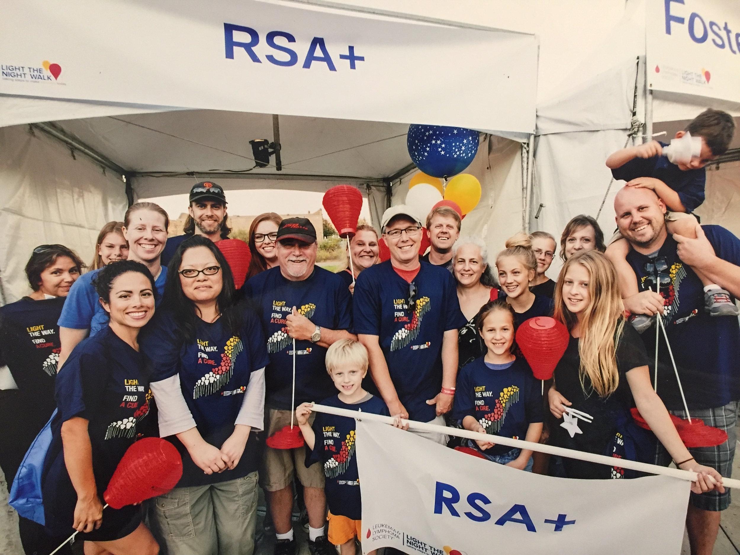 The RSA+ 2015 Light The Night team