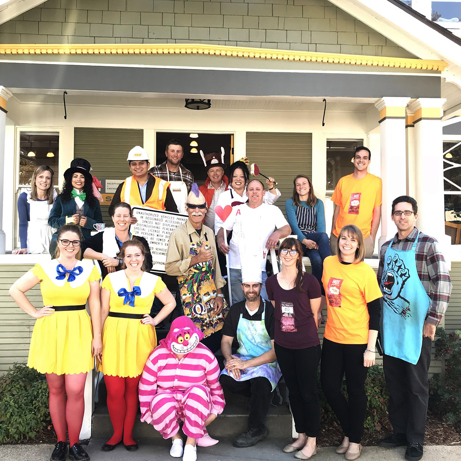 Here's all those who dressed up. So much fun!