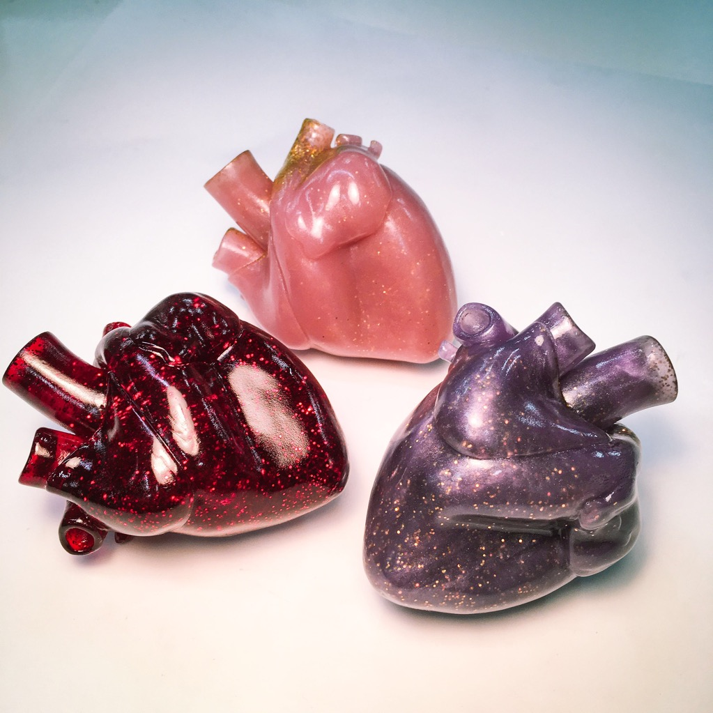 6. Little House of Hearts-Unique, handmade, one of a kind stylized anatomical resin heart sculptures and wearable heart pendants in a variety of styles and colours. An appropriate gift for doctors, nurses, heart patients, art nerds, gore enthusiasts and star-crossed lovers alike this Valentine's Day! -