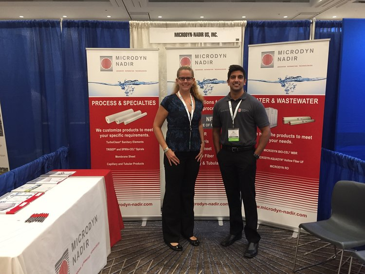 LYNDSEY WILES, PRODUCT MANAGEMENT, AND NIK MEHTA, TECHNICAL SERVICE, HAPPY TO DISCUSS MEMBRANE SOLUTIONS WITH YOU!