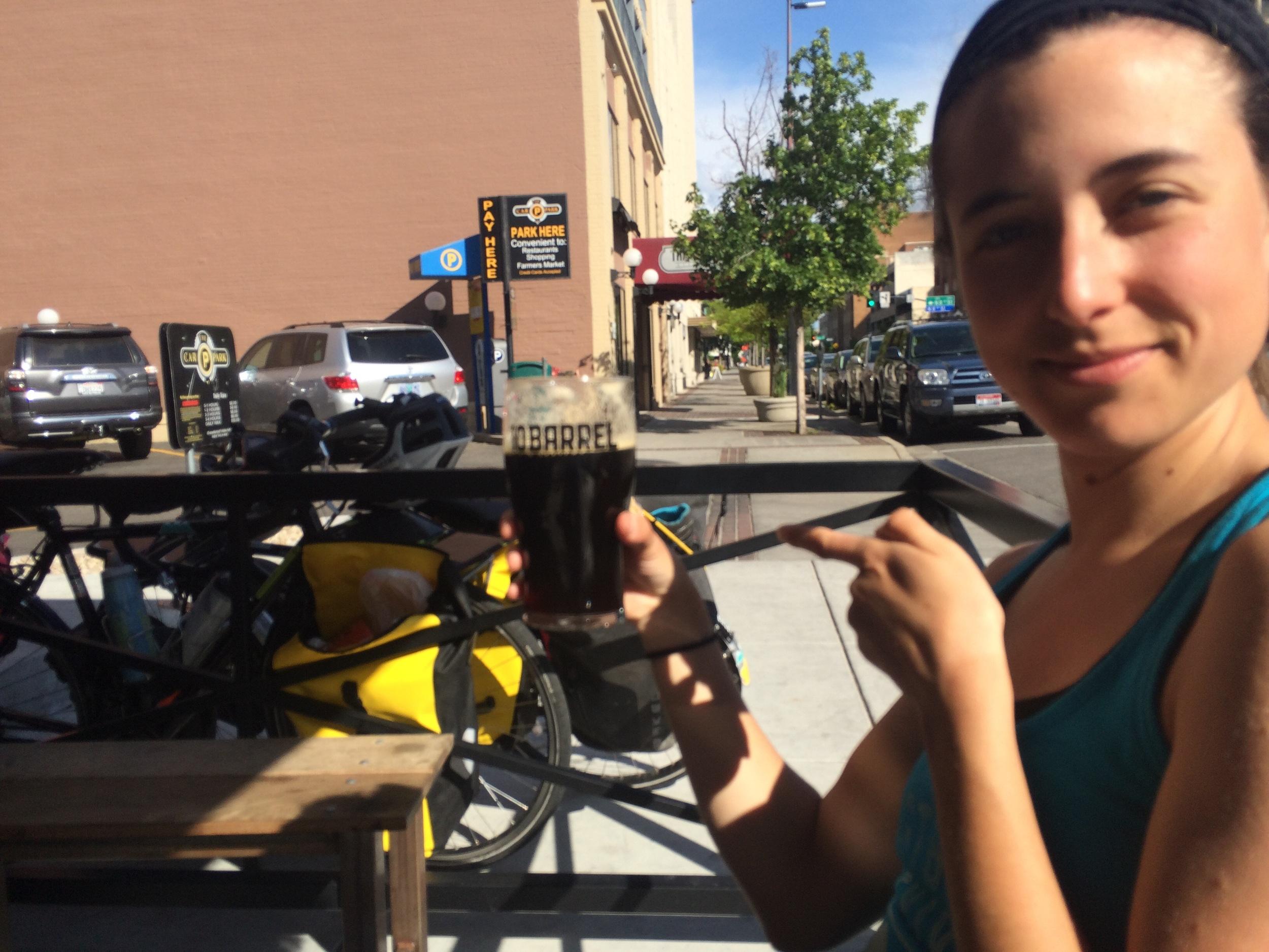 Rachel drinks a pint of their darkest; we're all shocked