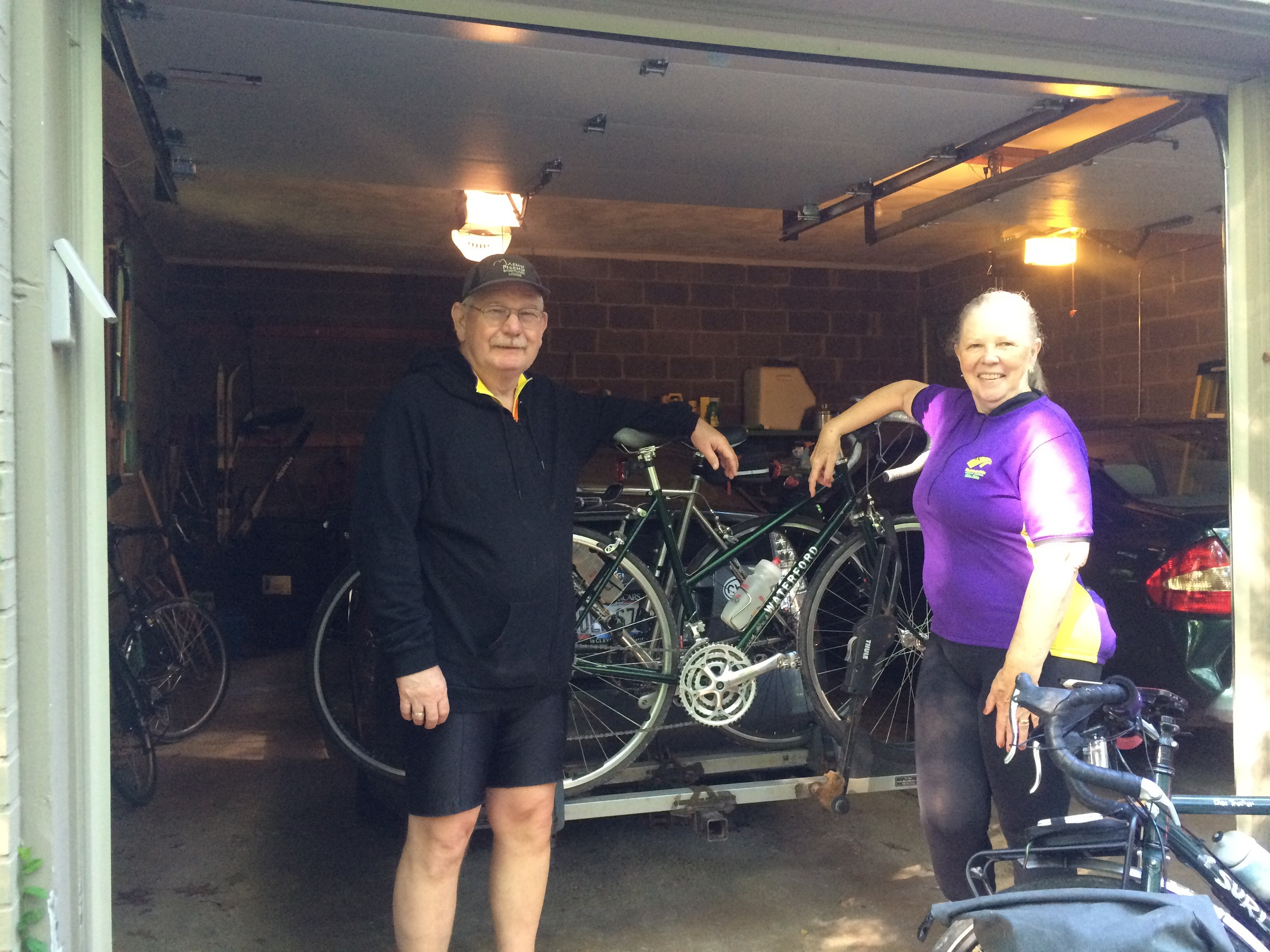 Gary and Marilyn, avid cyclists themselves