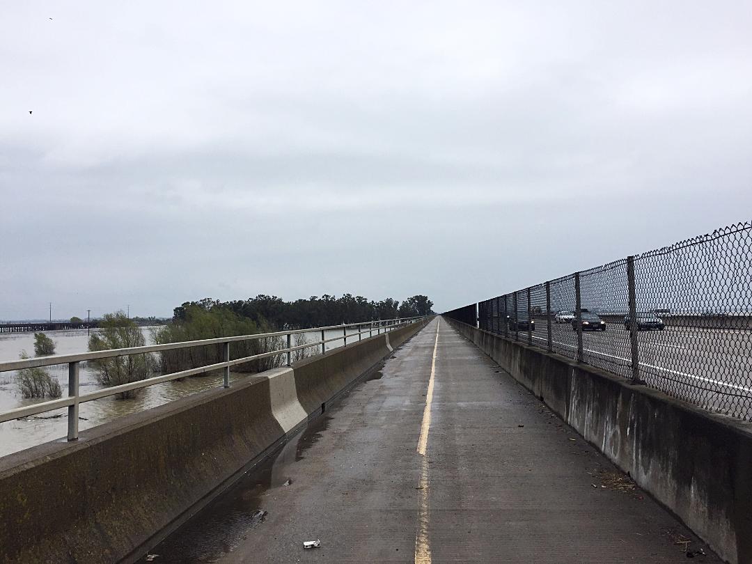 Bike path along I-80