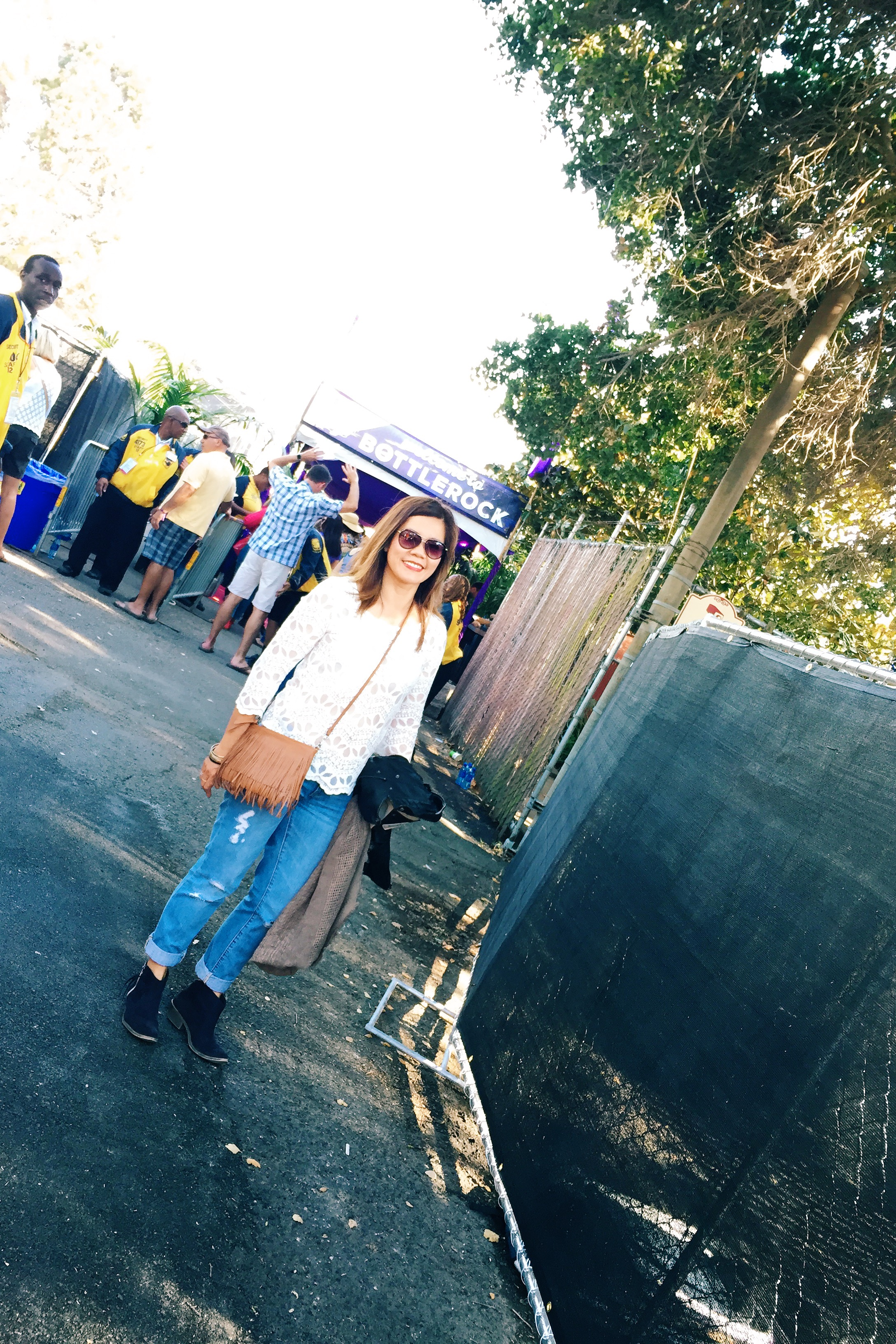 VIP entrance. Here I come…. (H&M  top  - Gap  jeans  - San Edelman  clutch  - Anthropologie vegan leather jacket - JustFab boots)