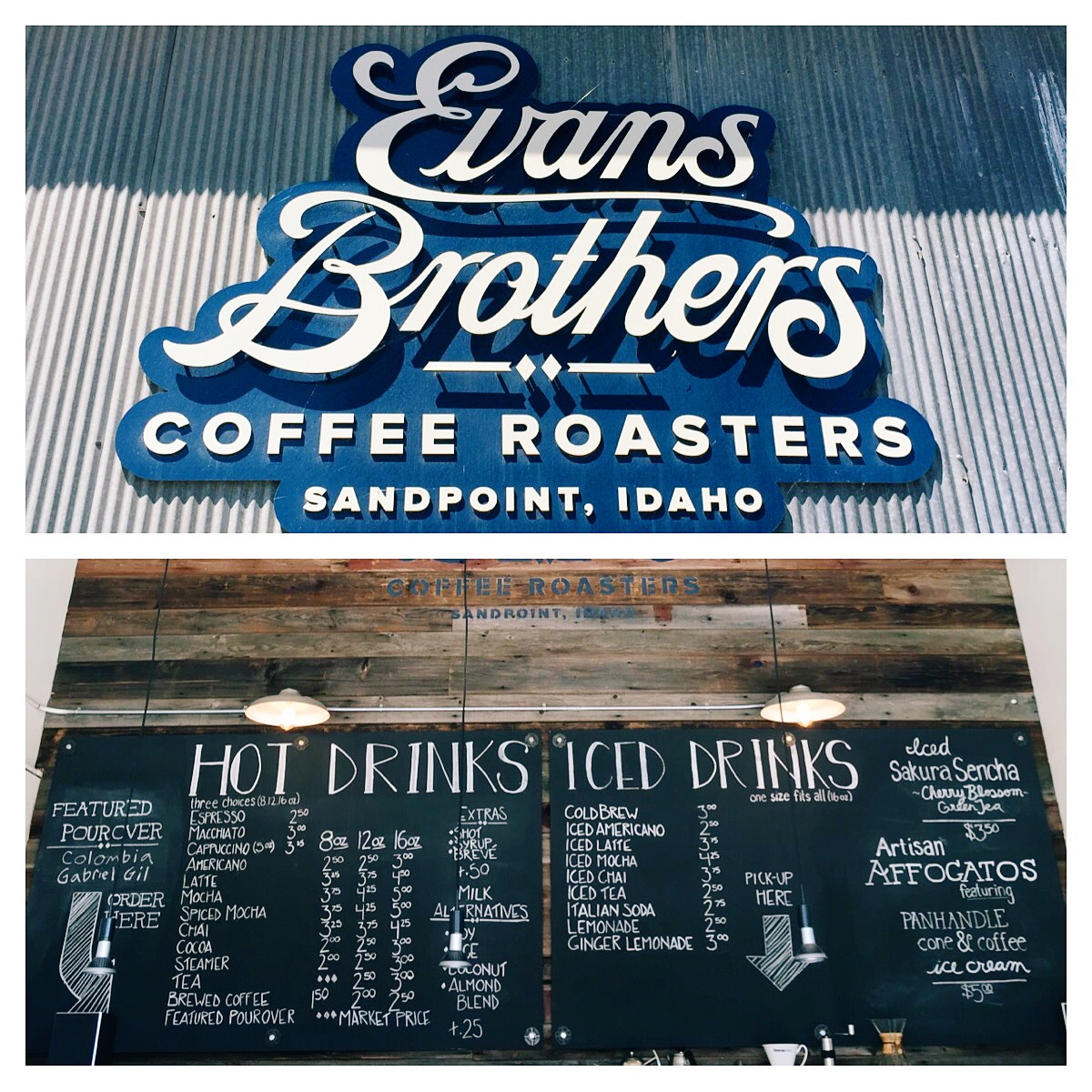 Evans Brothers Coffee  is Sandpoint's answer to Blue BottleCoffee