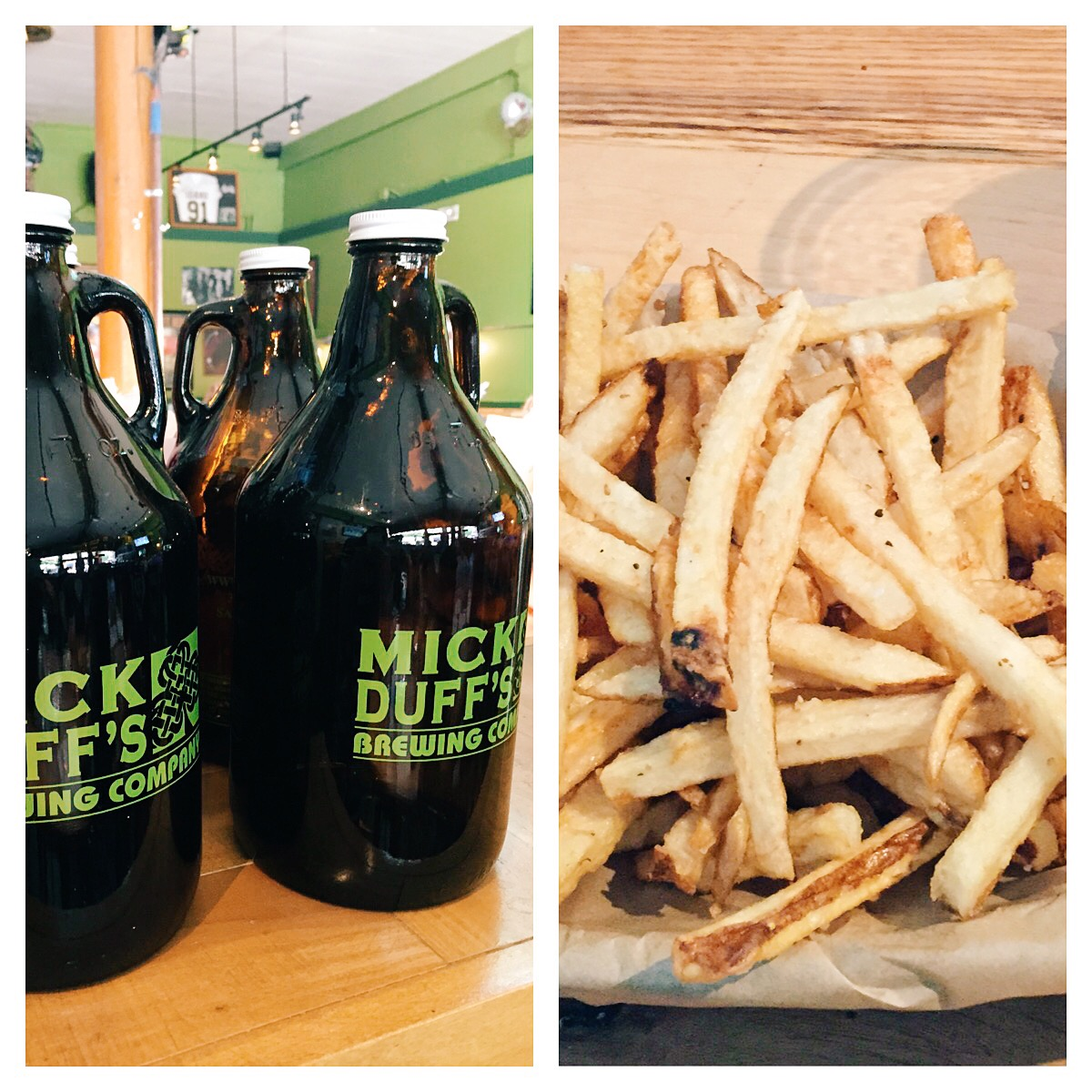 According to my hubby Mick Duff's has the best beer and french fries!