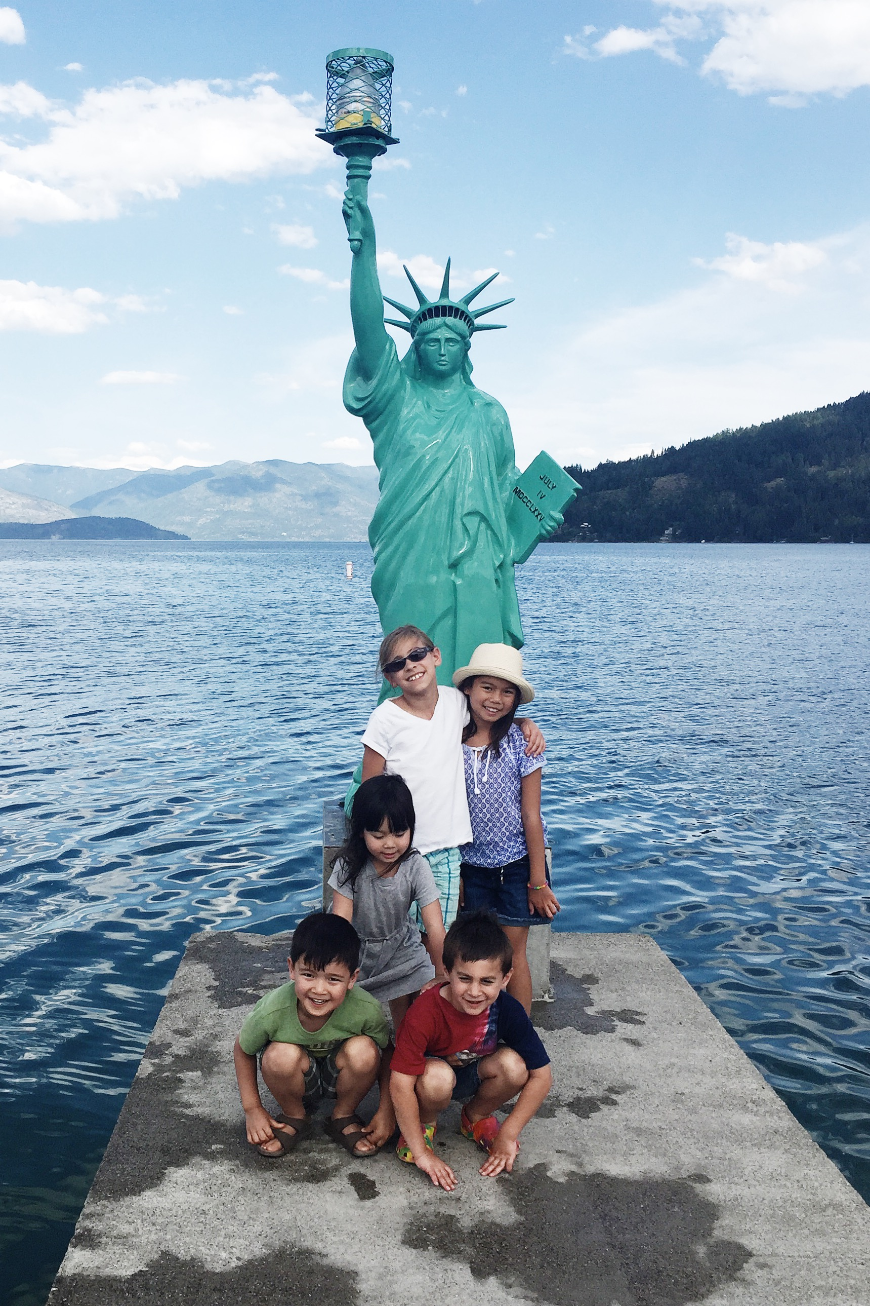 Can't make it to New York to see the Statue of Liberty? No problem! you can find a mini one in Sandpoint