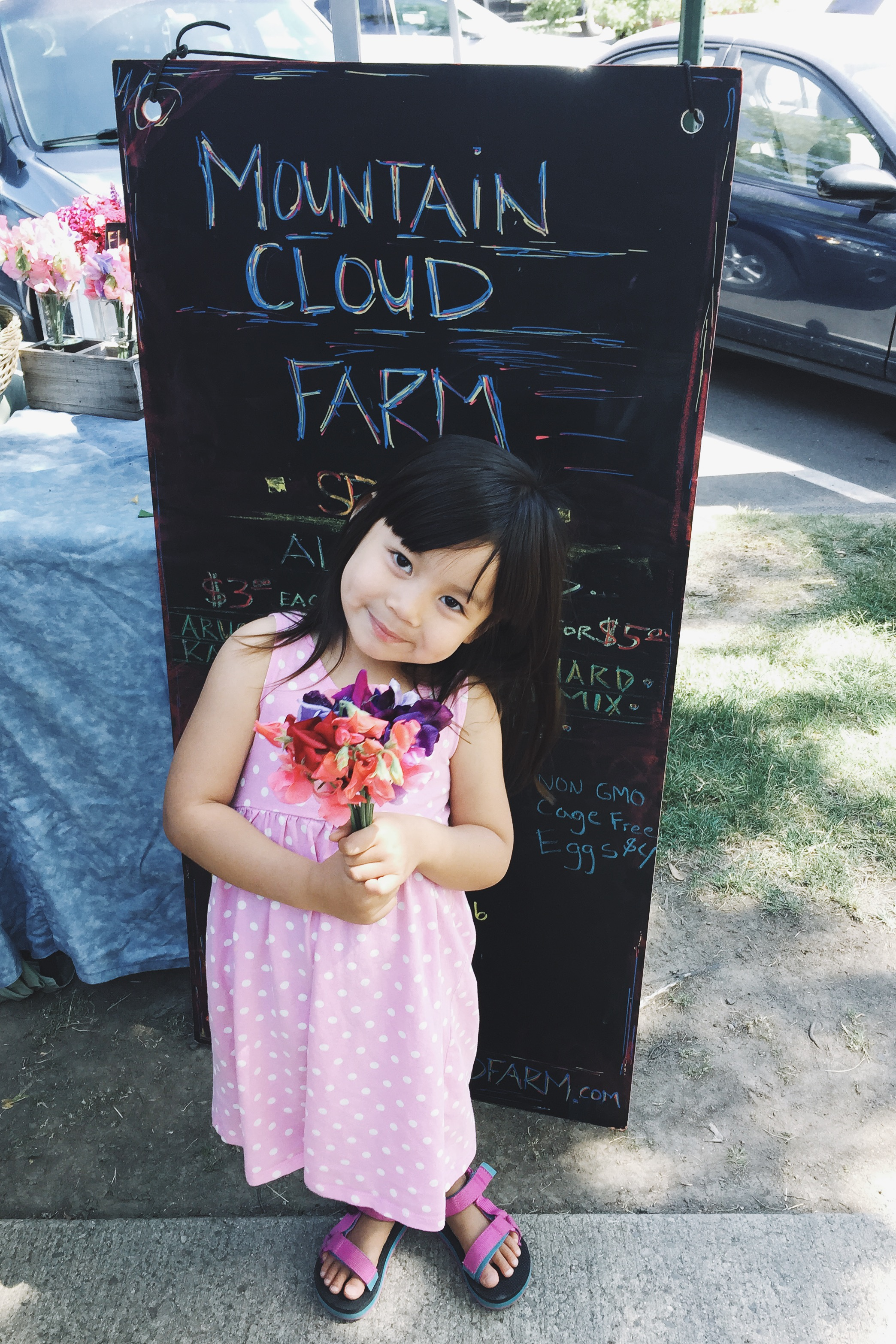 We love to visit local farmer's markets.