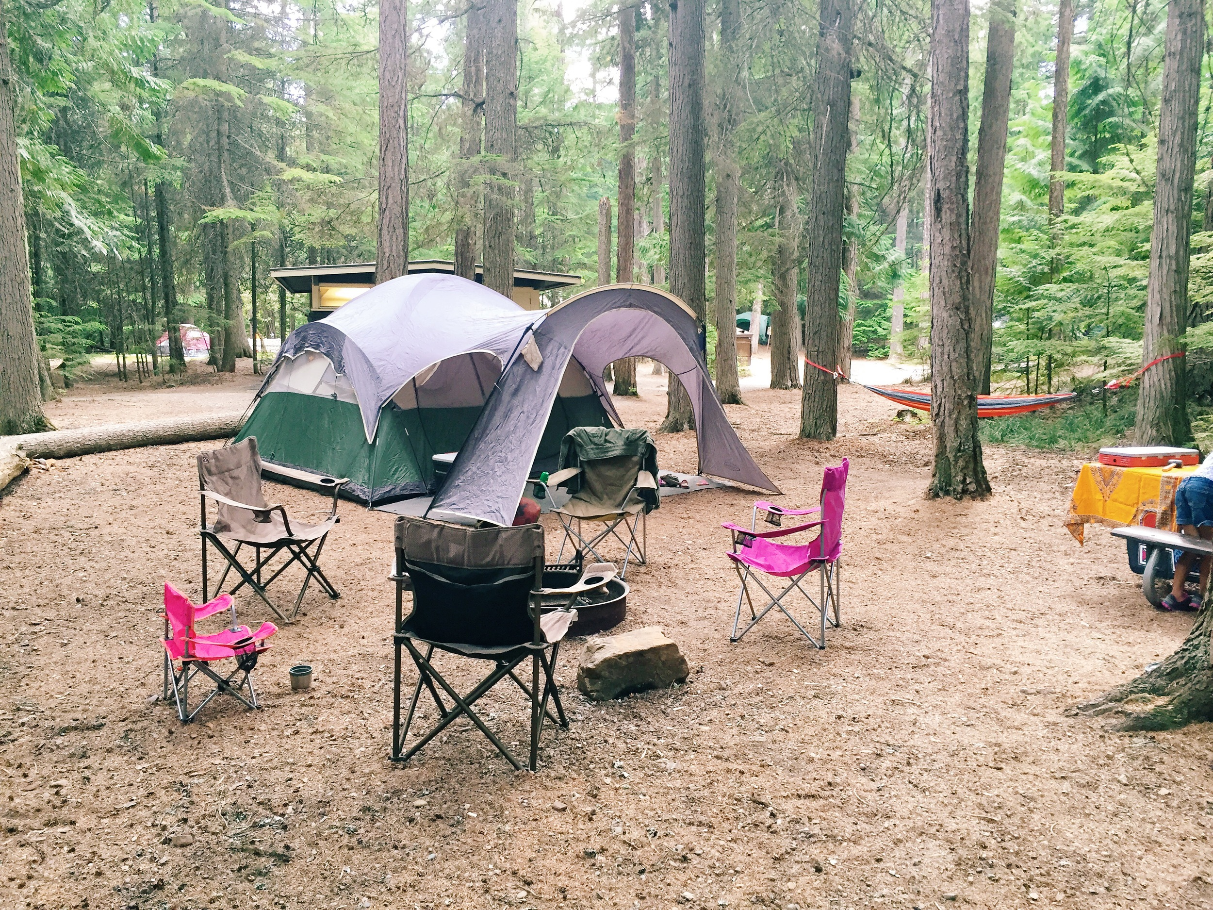 Our campsite. Too bad I spent most of the time being sickin the tent.