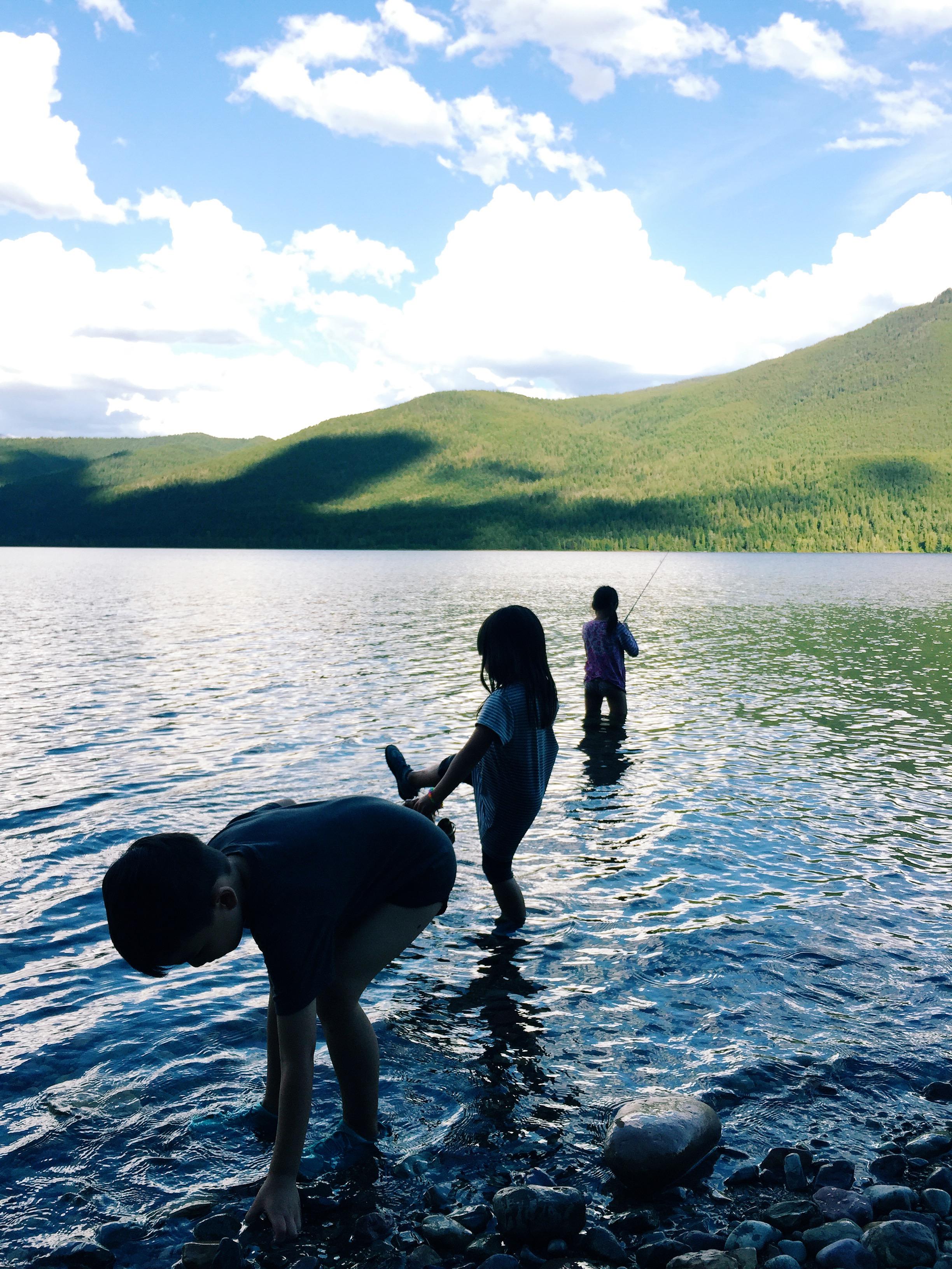 Hubby took the kids fishing.
