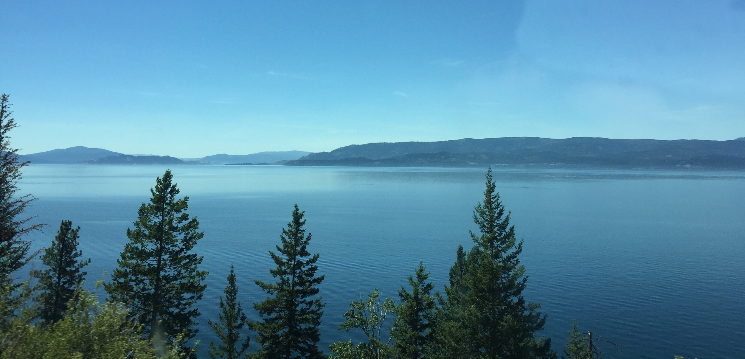 Beautiful view of Flathead Lake.