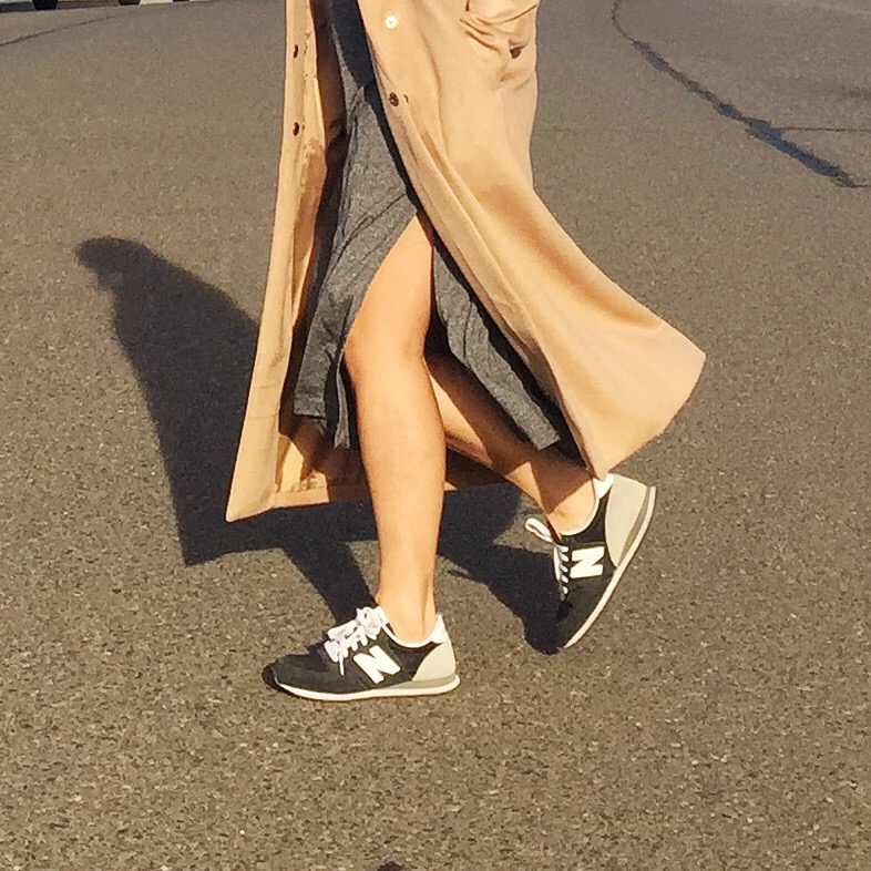 Forever21  coat /  H&M  dress (sold out) /  Nordstrom  sneakers