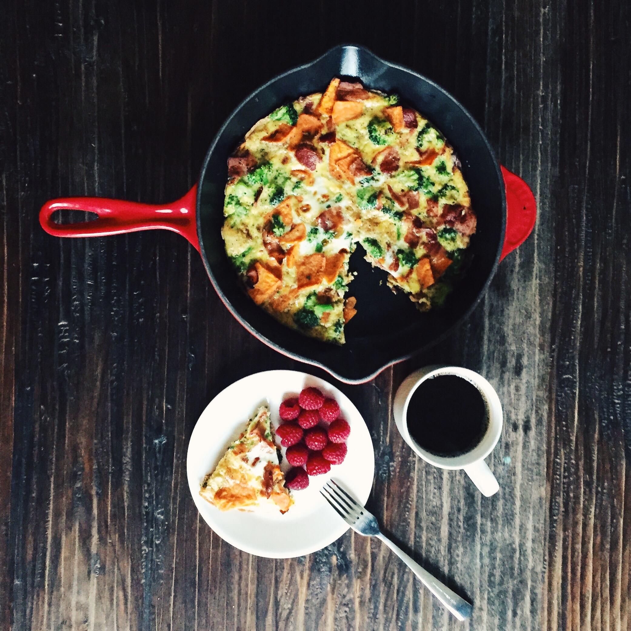 Simple frittatas. Recipe  here.