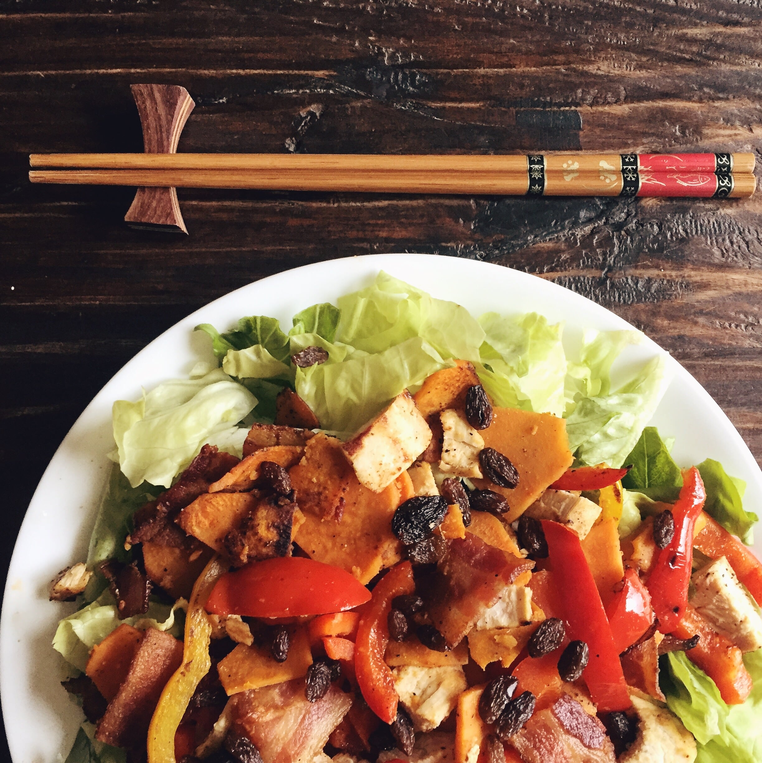 I like to eat my salad with chopsticks. More Whole30 recipes  here ,  here , and  here