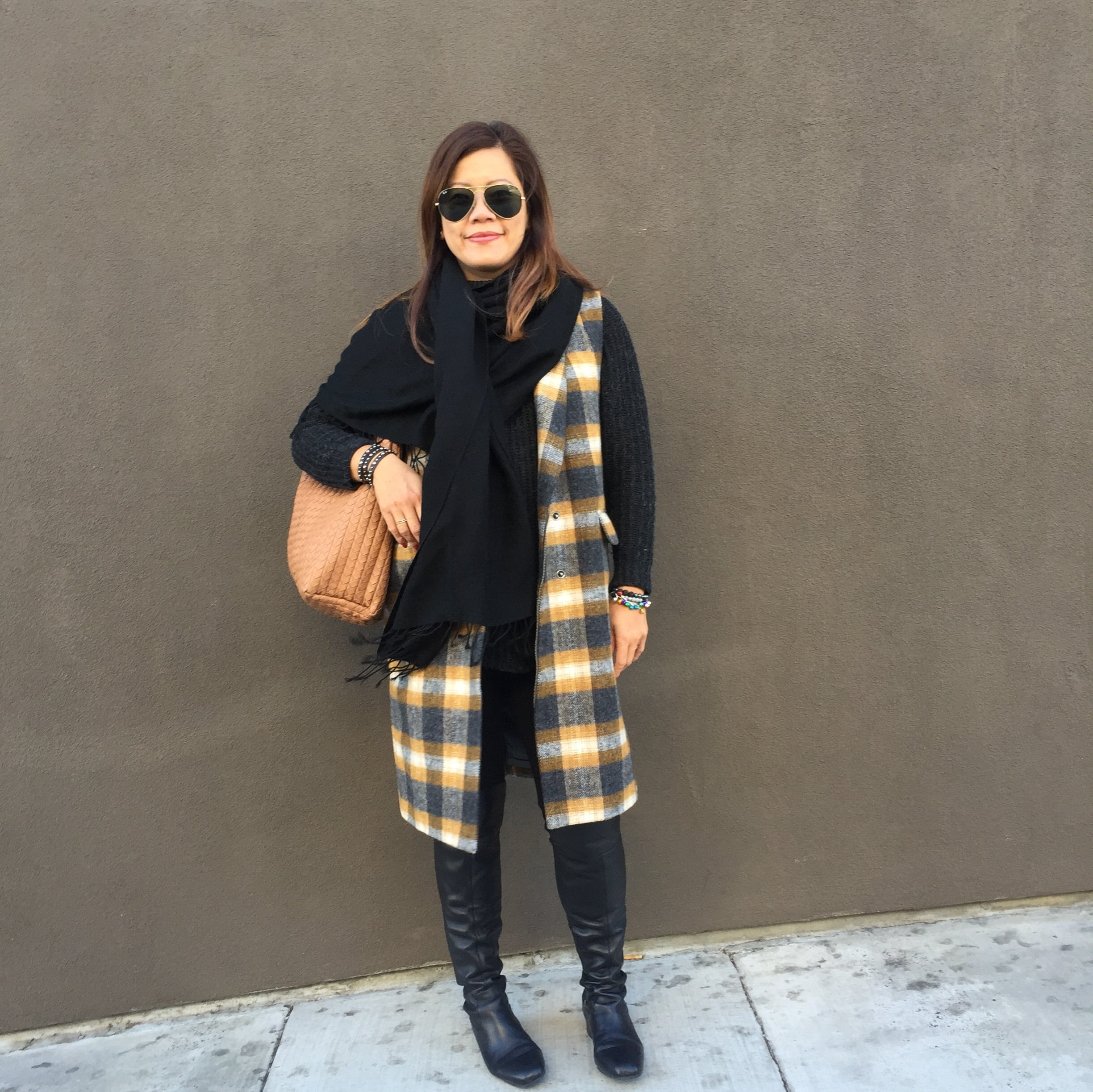 ANINE BING  knits - Madewell vest (similar  here ) - Nordstrom  OTK boots
