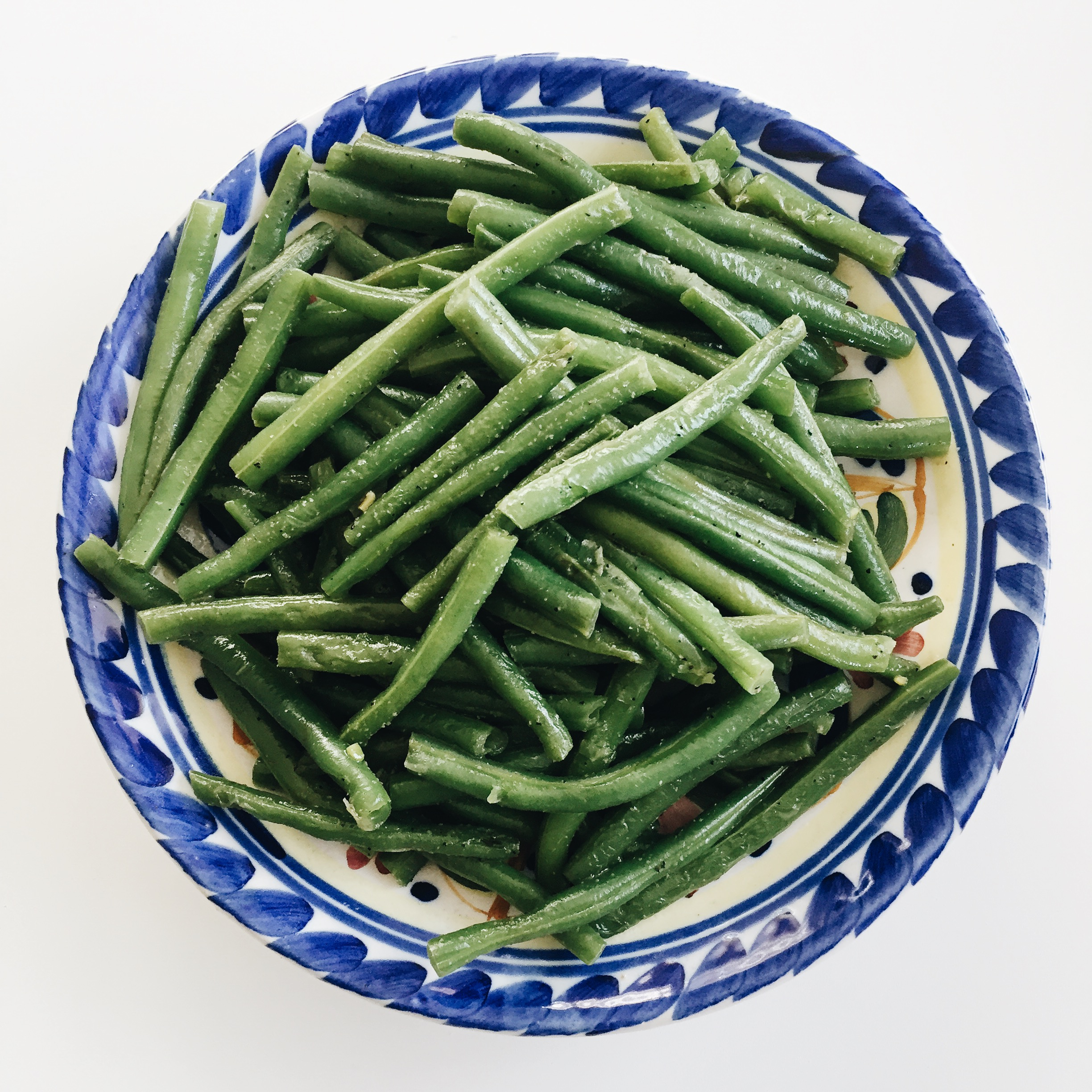 Lunch: stir fry green beans.