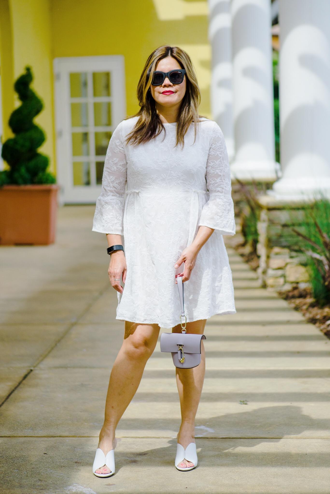momlikethat white lace dress zac posen bag.JPG