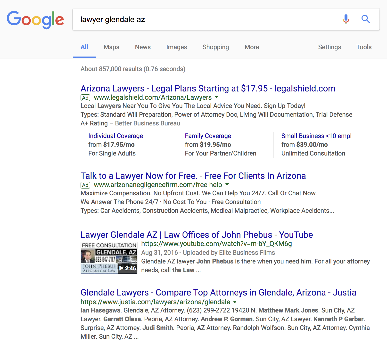 The Law Offices of John Phebus - Page 1 in Google Search - top organic resultKeyword: lawyer glendale azhttps://www.crimeandinjurylaw.com/