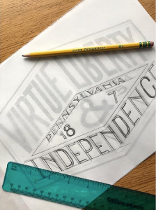Process photo of Pennsylvania's Motto