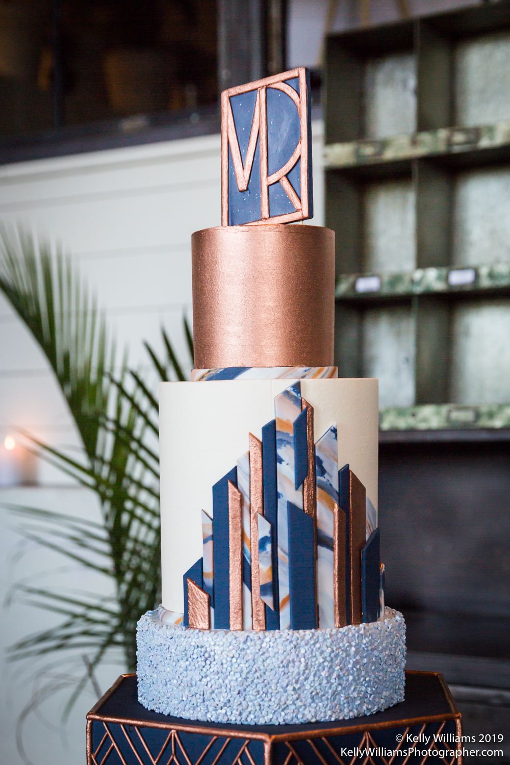 Monogram: Type A Invitations | Cake:  Cakes by Gene  | Photographer:  Kelly Williams Photography