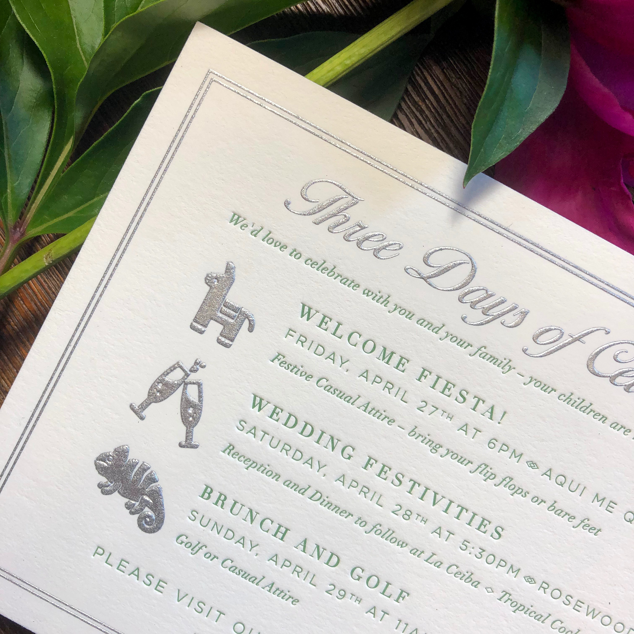 Features Shown: silver engraving & green letterpress