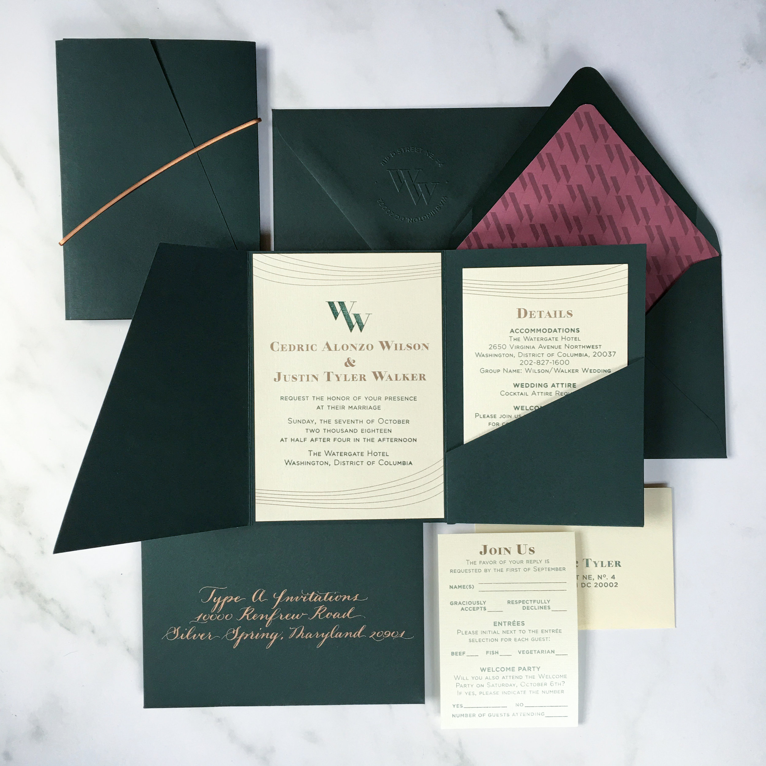 Above: Photography by Type A Invitations  Below: Photography by  Duhon Photography