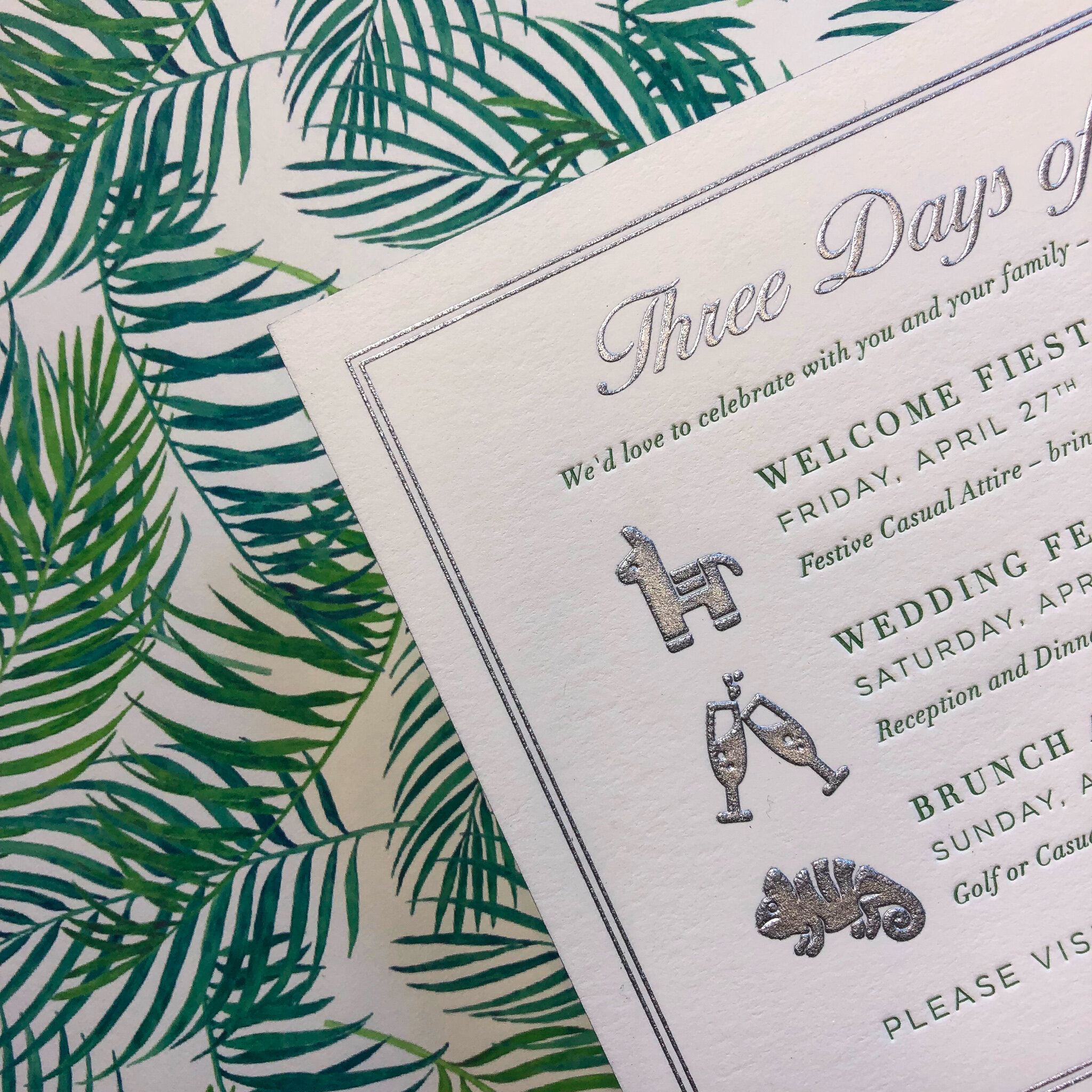 Black Letterpress and Handmade/Specialty Paper Shown