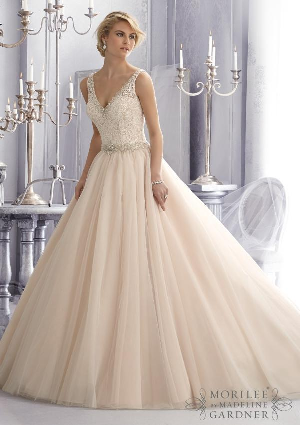 Tulle Ball Wedding Gown By Mori Lee