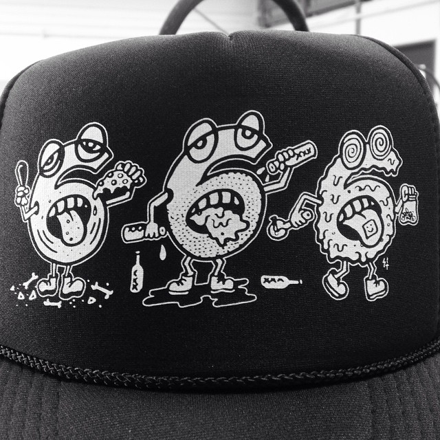 666 trucker hat by Sketchy Tank (SketchyTank.com)