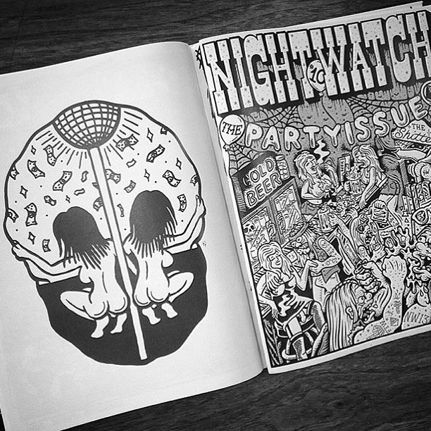 NightWatch studio Party issue, left side Sketchy Tank.Right Cover by TallBoy ( Tallboyart.Com ) ( NightWatchStudios.com )